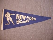 "1930's/40's New York Giants Football Pennant - 25"" x 10.5"""