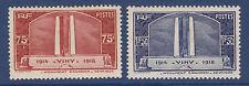 FRANCE N°  316 & 317 * neufs charnière, TB, cote: 28 €