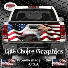 American Flag Eagle Truck Tailgate Wrap Vinyl Graphic Decal Sticker Wrap