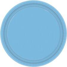 20 assiettes plates en plastique bleu pale Ø 23 cm 10019 decoration de table