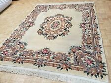 New listing 8x10 Chinese Rug Vintage Aubusson Peking Authentic 100% Wool Oriental Rug Fine