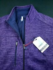Johnnie-O Mens 2 Way Full Zip Fleece Sweater Vest $145 Medium
