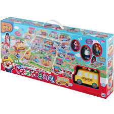 Pororo KINDERGARTEN Playground play set school bus 6 Figures Toy Korea Character
