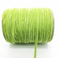 New 5 Yards 6mm Green Velvet Ribbon Headband Clips Bow Wedding Decoration