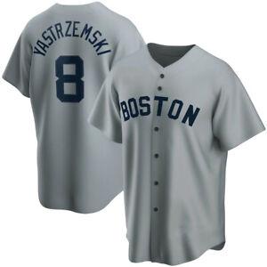 Boston Red Sox Carl Yastrzemski Gray Fanmade Baseball Jersey S-4XL