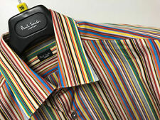 Paul Smith Striped Single Cuff Formal Shirts for Men