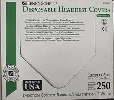 Henry Schein Disposable Headrest Covers Regular Size Qty250 10x115 112 4873 Usa
