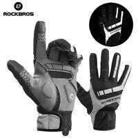 RockBros Fleece Warm Windproof Outdoor Sport Full Finger Gloves Mittens Red