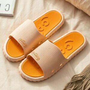 Men Women Summer Slippers Flip Flops Couples Home Non-slip Flat Shoes Sandals