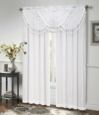 Ultra Luxurious Circa Window Curtain & Beaded Valance * New Colors