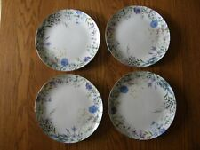 Set of 4:Williams Sonoma Floral Meadow Wreath Salad/Appetizer/Dessert plates-New