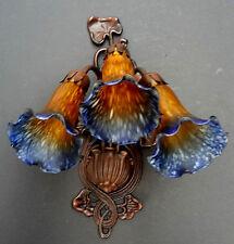 Stilarts Lampe Jugendstil Wandampe alt antik innen Leuchte Messing Lampenglas