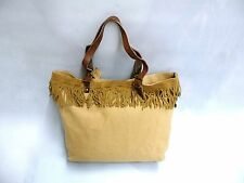 RALPH LAUREN DENIM AND SUPPLY SUEDE-FRINGE CANVAS TOTE BAG ( NWT ) XL