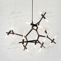 Modern Glass Adjustable Suspension Chandelier Hanging LED Pendant Lamp Lights