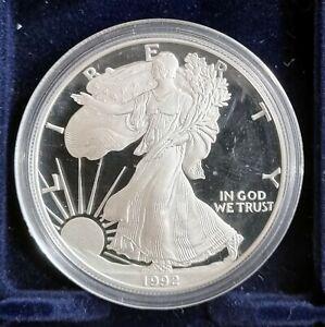 USA, 1 DÓLAR, LIBERTY EAGLE, AÑO 1992, CECA S, 1 ONZA DE PLATA, PROFESIONAL