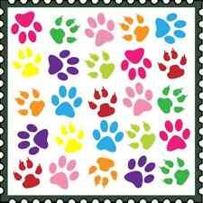 30 Custom Paw Print Stamp Art Personalized Address Labels