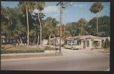Postcard Holly Hill Florida/Fl Carleton Motel Motor Court view 1950's
