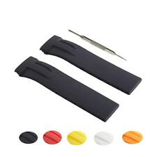 21mm Silicone Rubber Watch Strap Band Fits For Tissot T-Race T027, T048 W/ Tool