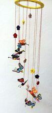 Mobile Schwingtier Holzmobile Schmetterling Falter Holz Baby Karusell Kinder neu