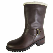 Zip Leather Solid Boots for Women