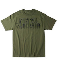 Metal Mulisha Men's Border Licensed T-Shirt Military Green Or Grey Size Small