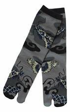 Chaussettes japonaises TABI Homme,Femme 39/43 grises motifs Dragon