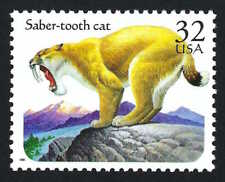 Saber-tooth Cat Tiger Prehistoric Animal The Flintstones Baby Puss Us Stamp Mint