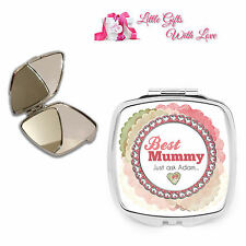 Personalised Best Mummy, Mum Compact Mirror Mothers Day, Christmas Gift.