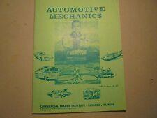 Automotive Mechanics Commercial Trades Institute AM-26 thru AM-27