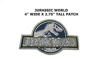 "Jurassic World/Park Movie Logo 4"" X 3"" Iron/Sew-On Patch Dinosaur"