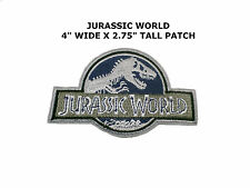 "Jurassic World/Park Movie Logo 4"" X 3"" Iron/Sew-On Patch Dinosaur"