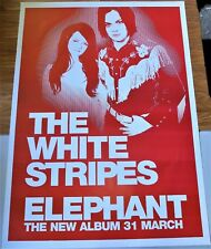 WHITE STRIPES RARE 2003 PROMO POSTER ELEPHANT CD BILLBOARD 140x100cm Music Band