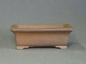 Tokoname Bonsai Pot Handmade Reihou Rectangle Brown TOKONAME 116*85*40mm T4791