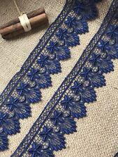 """Laces Galore~Navy Blue Flower GUIPURE/VENISE Lace  Trim 2""""/5cm"""