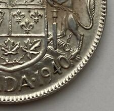 CANADA 1940 50 CENTS KING GEORGE VI  .800 SILVER  C26