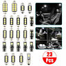 23pcs Car Interior White LED Light Bulb Dome Trunk Door Replacement Lamp Kit