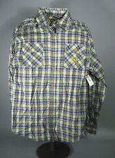 Live Mechanics Men Shirt Size XL Long Sleeve Button Shirt Plaid Cotton