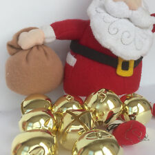 Giant Gold colour Jingling Christmas bells 45mm wide, sold per bell