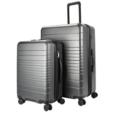 Member's Mark Two-Piece Hardside Suitcase Luggage Set - Gray