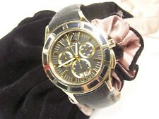 PANDORA WATCH IMAGINE GRAND C  BLACK LEATHER/GOLD PLATING  812005BK