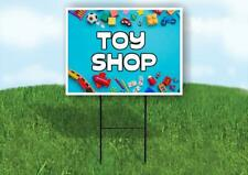 Toy Shop Blue Background Yard Sign Road With Stand Lawn Sign