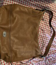 FOSSIL TAN LEATHER HOBO TOTE BAG