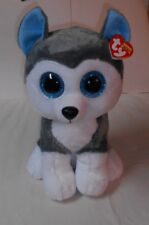 "TY BEANIE BOOS 18"" JUMBO ""SLUSH"" HUSKY, HUGE EYES & SUPER CUTE ""2017"" NWT'S!"