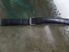 Omega strap band on deployment buckle  20 mm  Navy blue  NEW