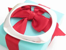 "Tiffany & Co Silver 925 Square Cushion Bangle Bracelet Medium 7.5"" Wrist"