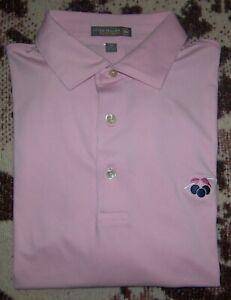 PETER MILLAR SUMMER COMFORT Golf Polo Shirt CHERRY HILLS COUNTRY CLUB M TOP 100