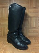 Vintage🔥 WESCO Black Premium Leather Motorcycle Trooper Police Boots Sz 8.5 USA