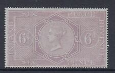 GB Postal Fiscal Stamps sg F11 6d reddish lilac - Mounted mint