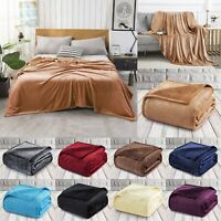 Faux Fur Super Soft Warm Bed & Sofa Blanket Double King Size Travel Throw Over