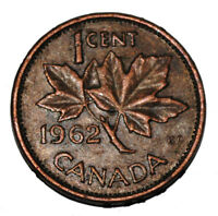 Canada 1962 1 Cent Copper One Canadian Penny Coin